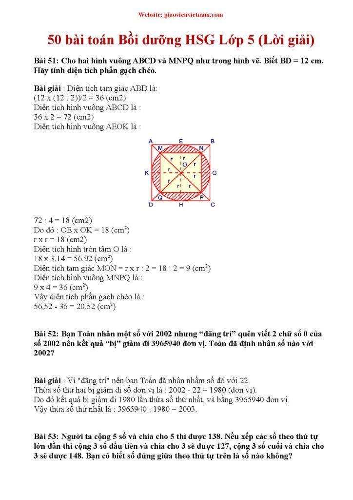 toán bồi dưỡng hsg lớp 5